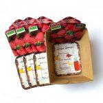 Insteekkaartje voor aardbeienbakje